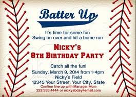 Birthday Invitations Printable Baseball Themed Invitation Template Birthday Invitations Movie