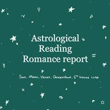 Etsy Birth Chart Romance Astrological Natal Chart Reading Sun Moon Ascendant Planets And Aspects Zodiac Sign Natal Chart Report