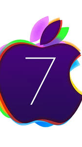 apple iphone 7 logo. colored ios 7 apple logo iphone