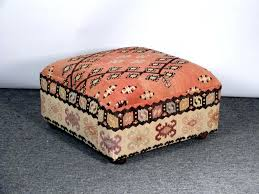 lovely rug upholstered ottoman persian rug upholstered ottoman