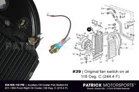 911 porsche electrical equipment parts by patrick motorsports temp switch sender kit for oil cooler fan 911 carrera 930 turbo