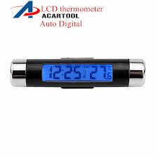 Portable 2in1 <b>Car Digital</b> LCD <b>Clock</b> & <b>Temperature</b> Display ...