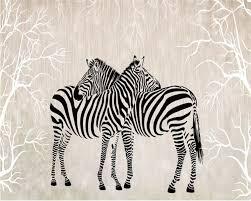 Beibehang Custom Large Wallpaper 3d Love Zebra Living Room Tv