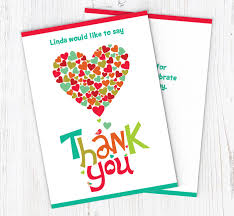 Hearts Thank You Cards Customise Online Plus Free Envelopes And