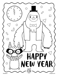 Small Picture New Years Eve Free Printable Coloring Page Honest to Nod