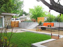 View in gallery Modern backyard with designated sections
