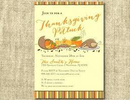 Potluck Flyer Templates Thanksgiving Potluck Flyer Template Free