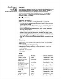 Radiographer Resume Sample Monster Fascinating Resume For Radiologic Technologist