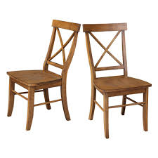 x back dining chairs. International Concepts Distressed Pecan X-Back Dining Chairs (set Of 2) X Back N