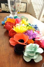 Paper Flower Centerpieces At Wedding Paper Flower Centerpiece Paper Flowers For Wedding