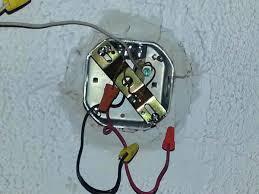 install lighting fixture. Light Fixture Box How To Install Regular Lighting Ceiling Has Black Red X