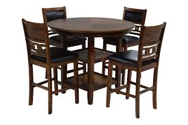 dining room table. Gia Light Brown Counter-Height Table With 4 Stools Dining Room