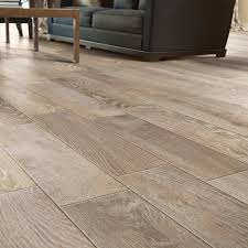 Porcelain Wood Look Traditional Living Room Chicago by