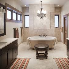 Custom bathroom lighting Popular Full Custom Bathroom With Claw Foot Tub Custom Lighting And His And Hers Sinks Playnewzclub Create An Oasis In Your Master Bath Jm Kitchen And Bath Can Help