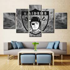 5 pieces oakland raiders sports fans oil painting on canvas modern on canberra raiders wall art with 1 sports canvas store