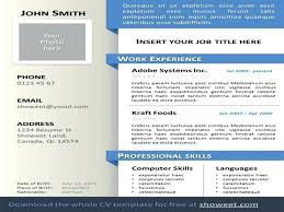 Powerpoint Resume Template Cv Ppt Templates Free Download