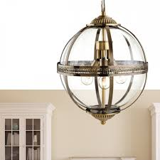 firstlight mayfair ceiling pendant light in antique brass with clear glass