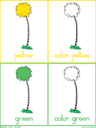 Free printable flash cards for a variety of subjects including math, reading, and more. Colorful Trees Flash Cards Color Words Worksheets Preschool Lesson Plan Printable Activities Dr Seuss The Lorax