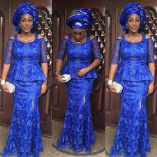 Magnificient Blue Aso Ebi Styles For Wedding Guests