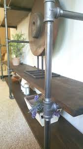 diy industrial pipe shelves modern yet rustic vibe