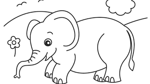 Small Picture Stunning Baby Elephant Coloring Page Ideas Gekimoe 102392