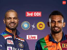 Cricket Score, India vs Sri Lanka 3rd ...