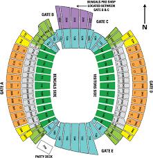 Details About 2 Cincinnati Bengals Coa Psl Field Level Seat Licenses Sec 160 Row 12 Tunnel
