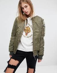 schott aireforce 1 er jacket with woven badge on arm khaki women schott leather jackets t