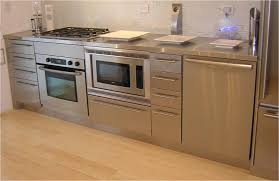 Kitchen:Outstanding Stainless Steel Kitchen Appliance Shelves With Cream  Wall Paint And Oval Shape Kitchen
