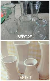 how to spray paint vases More