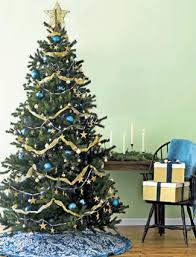 blue-gold-christmas-tree-ornaments-decorations-theme