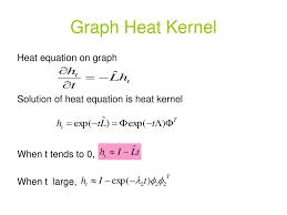 graph heat kernel heat equation on graph