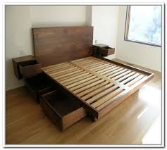 Catchy Platform Storage Bed King with Resemblance Of King Platform