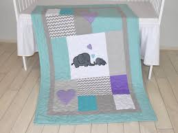 luxury elephant baby quilt teal gray purple crib bedding gray purple and teal crib bedding