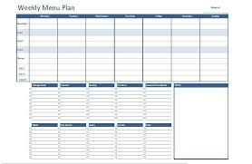 Fillable Weekly Menu Planner Template 20 Free Menu Planner