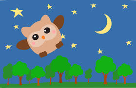 night clipart.  Night Tree Landscape At Night With Owl Throughout Clipart T
