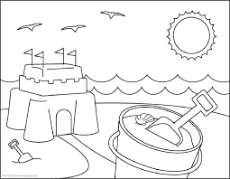 Small Picture Free Coloring Pages Beach