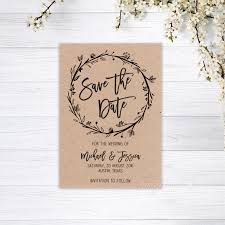 Save The Date No Photo Details About Save The Date Cards Personalised Invitations Magnets Wedding Card Recycled Kraft