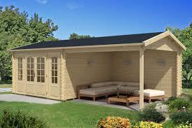 Gartenholzhaus mit 40-44 mm Wandstärke ‒ große Auswahl