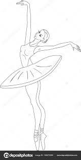Kleurplaat Met Ballerina Stockvector Mariaflaya 198472292