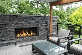 l1 linear series with driftwood fluted black liner 1 inch surround and gv60cko outdoor