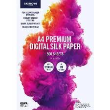 J.Burrows A4 120gsm Digital <b>Silk</b> Paper 500 Sheets | Officeworks