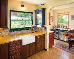 san go spanish tile backsplash with satin mosaic tiles kitchen mediterranean and window archway