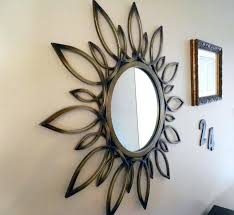 circle mirror wall decor wrought sunburst mirrors for family room decoration kohls circle mirror metal wall decor