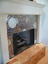 mosaic tile fireplace. Wonderful Tile Tile Fireplace Surround  Mosaic Mirror What A Wonderful Piece Of  Functional Art Very Effective In Mosaic Fireplace P