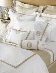 we are so proud to offer the full line of matouk monogrammed bedding from personalized duvet covers to monogrammed coverlets sheets and shams