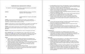 Trademark License Agreement Trademark License Agreement Template
