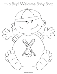 its a boy welcome baby braxi_coloring_page?ctok=20100804225124 welcome baby coloring pages children coloring on welcome baby coloring pages
