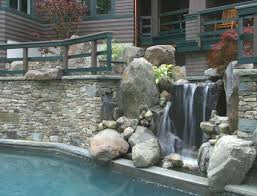Small Picture Waterfall Design For Home Contemporary Pool Waterfall Design With