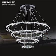 led font b chandeliers b font modern stainless steel crystal light led room kroonluchter hanging lamps